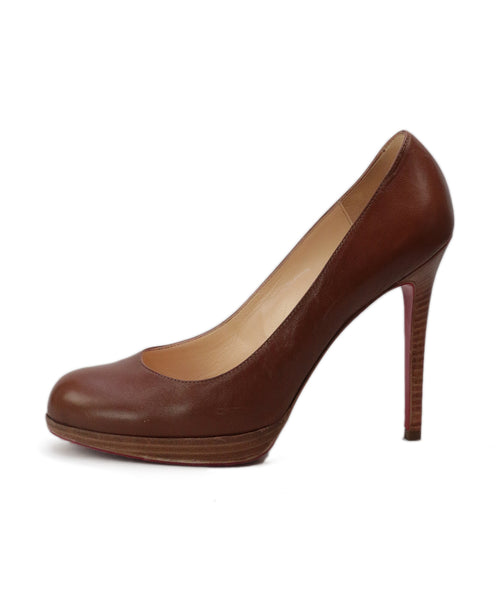 Christian Louboutin Brown Cognac Leather Heels 1