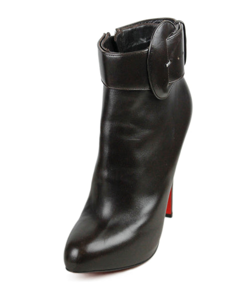 Christian Louboutin Brown Leather Booties Sz 41