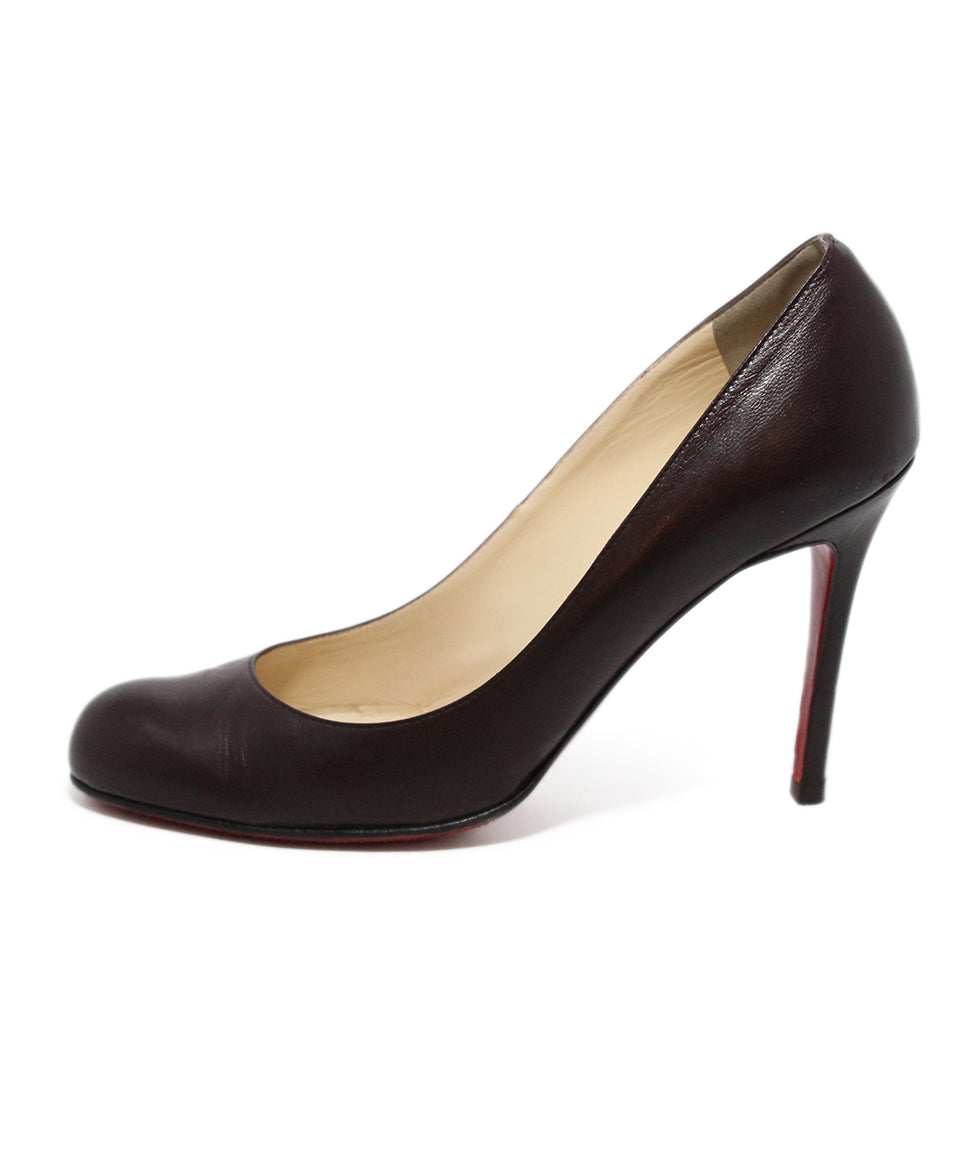Christian Louboutin Brown Leather Heels 2
