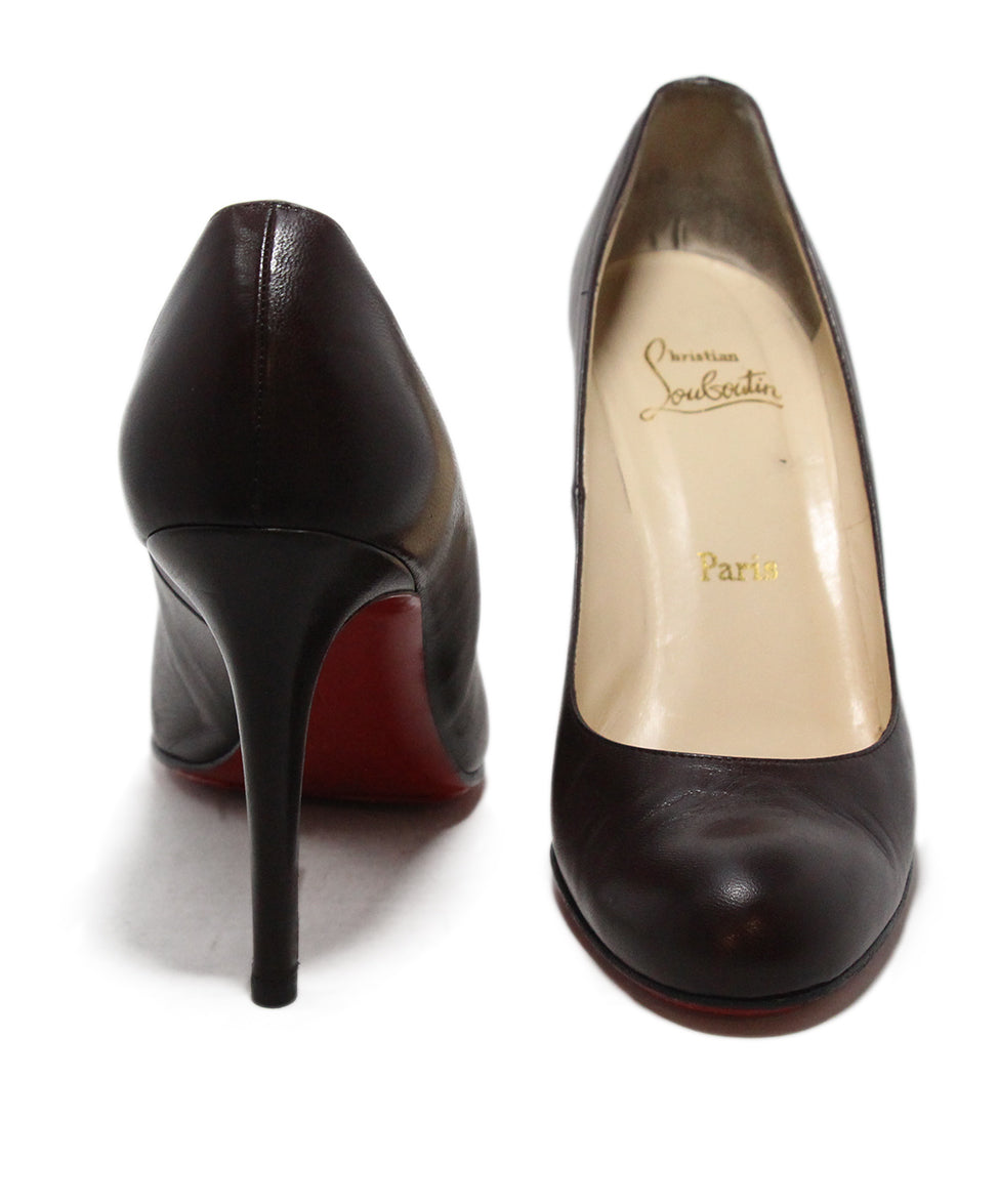 Christian Louboutin Brown Leather Heels 3
