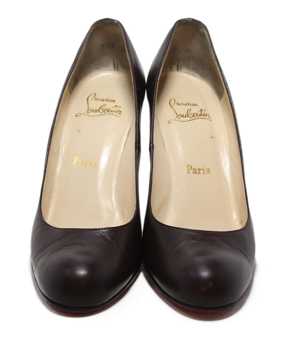 Christian Louboutin Brown Leather Heels 4