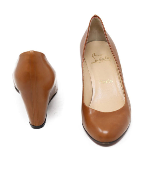 Christian Louboutin Brown Wedge Heels 3