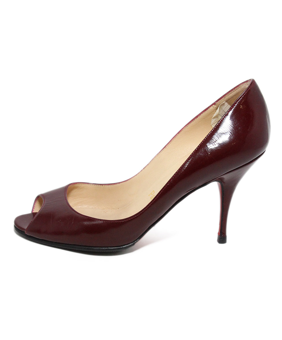 Christian Louboutin Burgundy Leather Heels 2