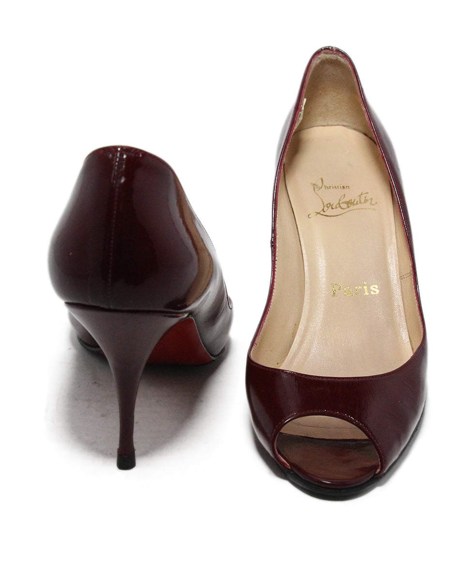 Christian Louboutin Burgundy Leather Heels 3