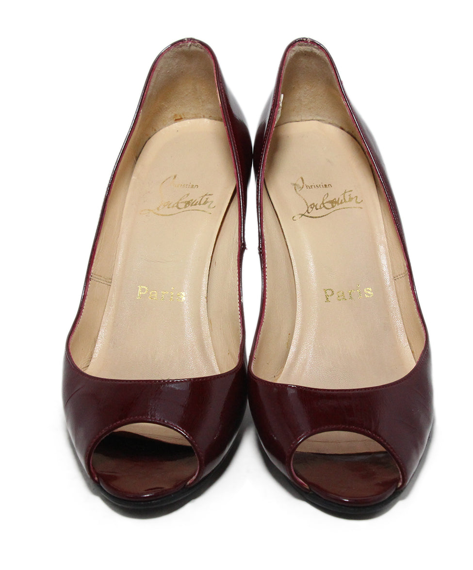 Christian Louboutin Burgundy Leather Heels 4