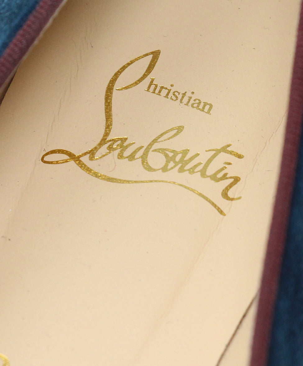 Christian Louboutin Burgundy Velvet Shoes 7