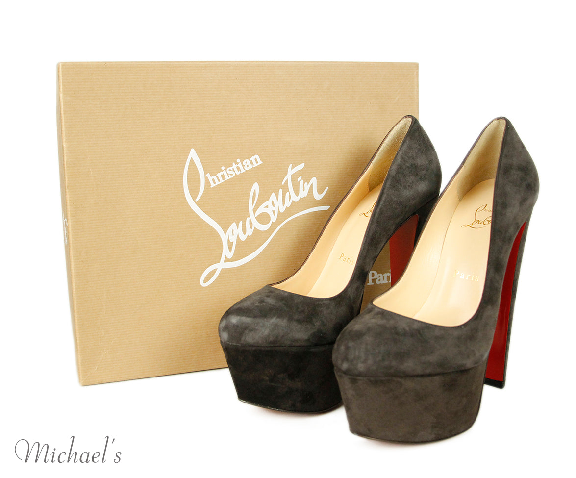 Christian Louboutin Brown Suede Shoes Sz 38