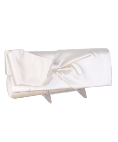 Christian Louboutin Cream Satin Clutch 1