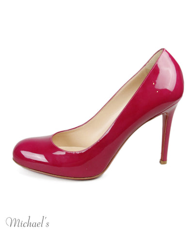 Christian Louboutin Fuchsia Patent Leather Heels Sz 39.5