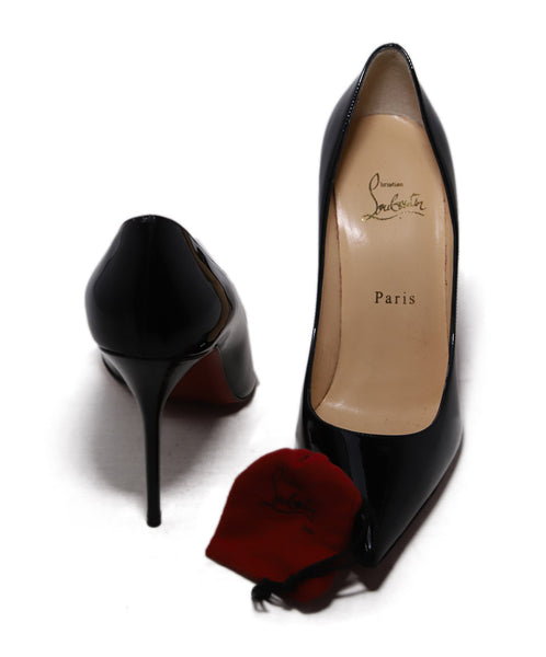 Christian Louboutin Black Patent Leather Heels 4