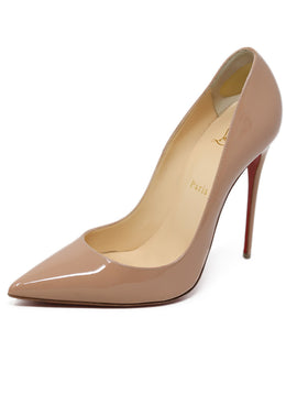 Heels Christian Louboutin Shoe Neutral Nude Patent Leather Shoes
