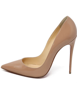 Heels Christian Louboutin Shoe Neutral Nude Patent Leather Shoes 1