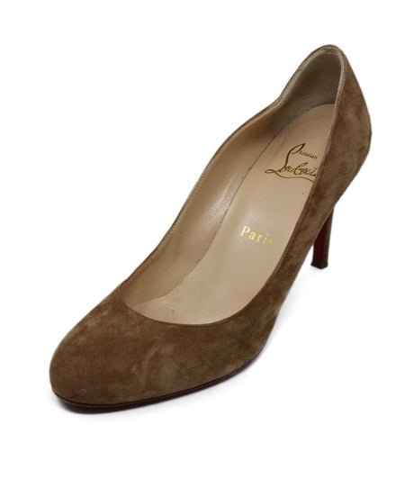 Christian Louboutin Brown Wedge Heels Size 6.5