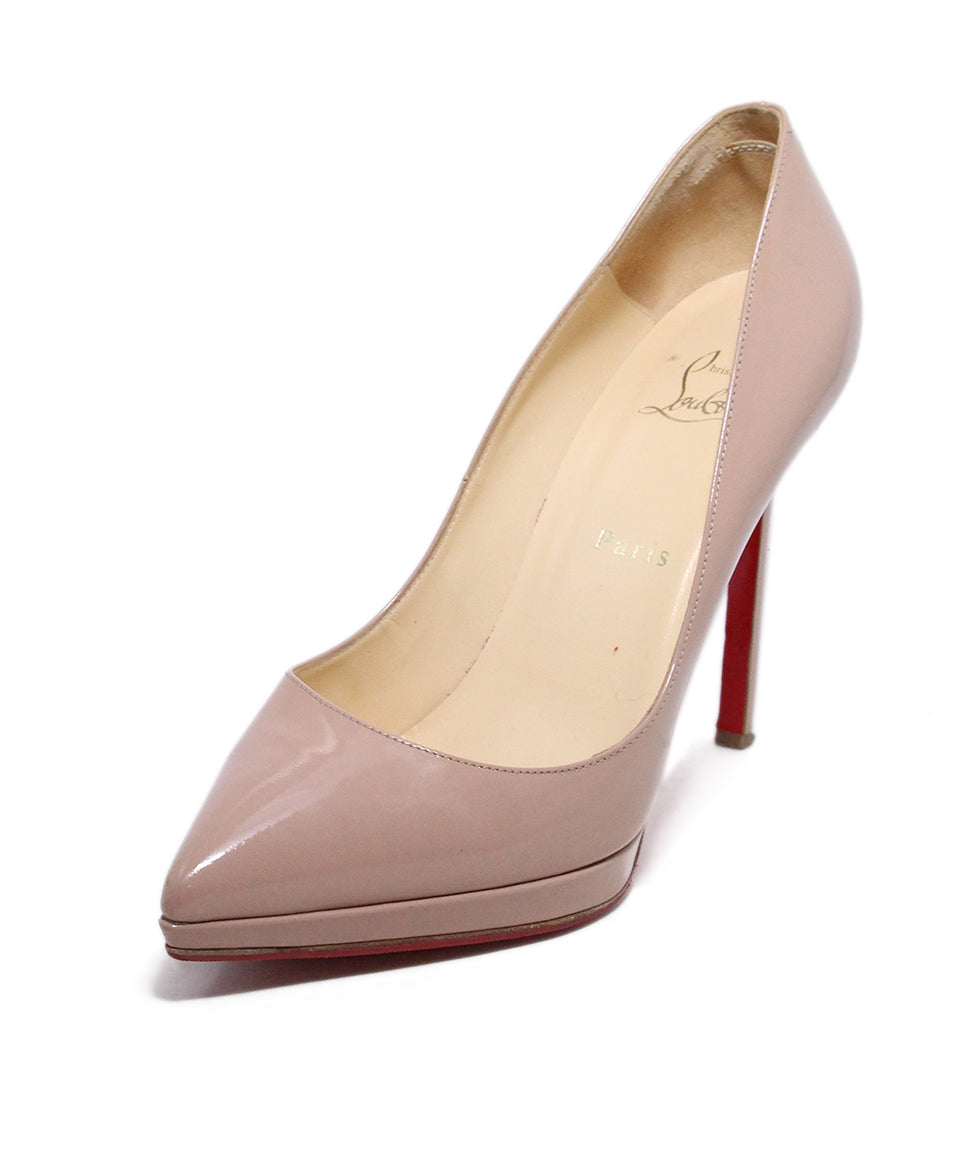 Christian Louboutin Neutral Tan Patent Leather Heels 1