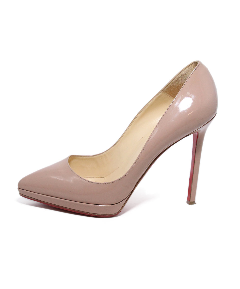 Christian Louboutin Neutral Tan Patent Leather Heels 2