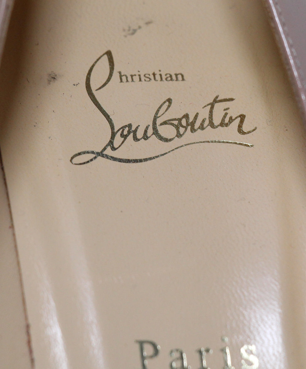 Christian Louboutin Neutral Tan Patent Leather Heels 7