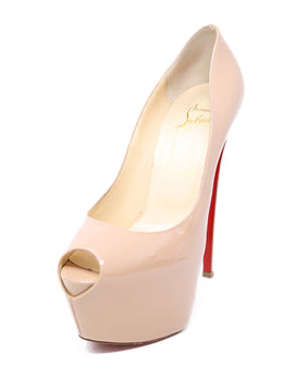 Christian Louboutin Nude Patent Leather Platform Heels 1