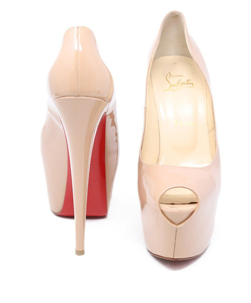 Christian Louboutin Nude Patent Leather Platform Heels 3