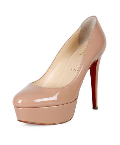 Christian Louboutin Nude Patent Leather Heels Sz 38