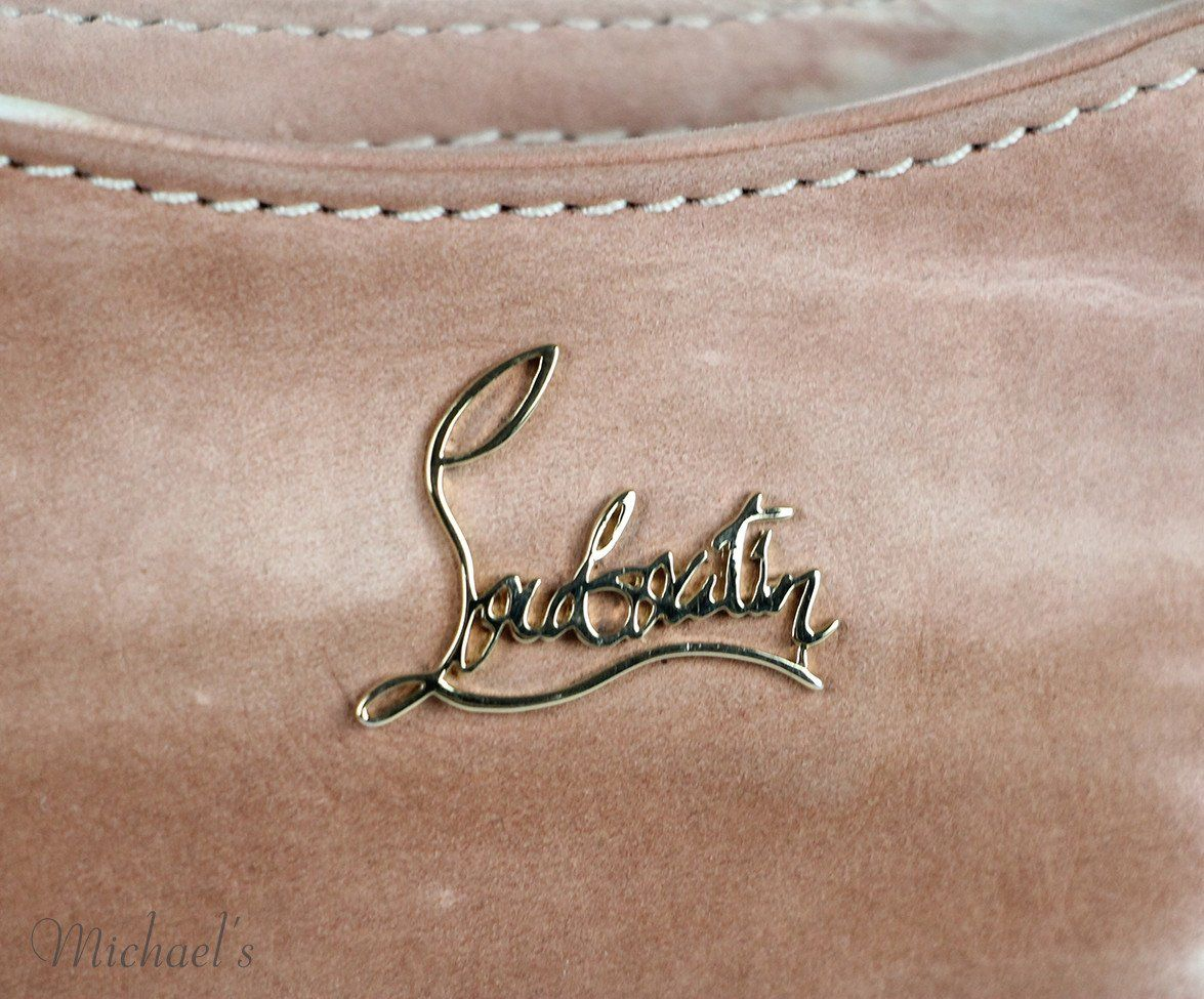 Christian Louboutin  Mauve White Leather Handbag