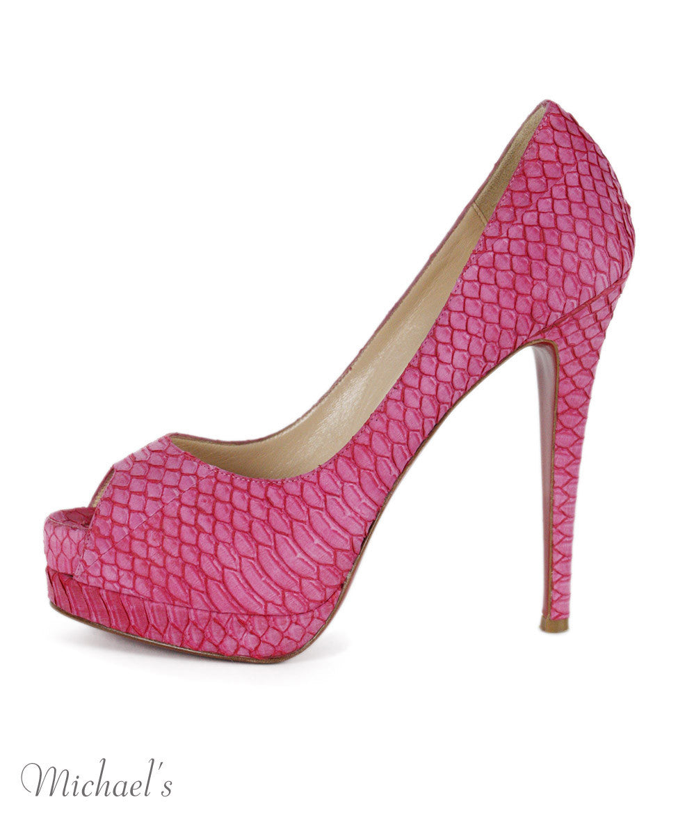 Christian Louboutin Pink Skin Shoes Sz 38