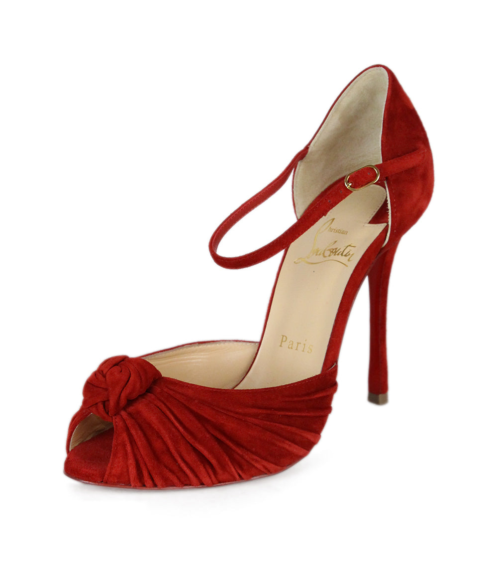 Christian Louboutin Red Suede Shoes 1