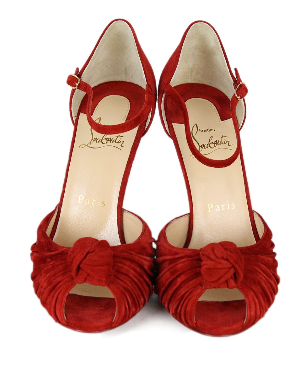 Christian Louboutin Red Suede Shoes 4