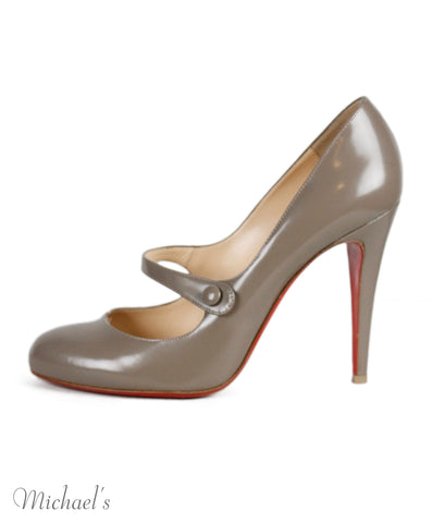 Christian Louboutin Taupe Leather Heels Sz 40