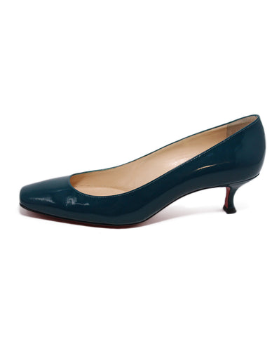Christian Louboutin Teal Patent Leather Heels 1