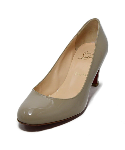 Christian Louboutin Neutral Beige Patent Leather Heels 1
