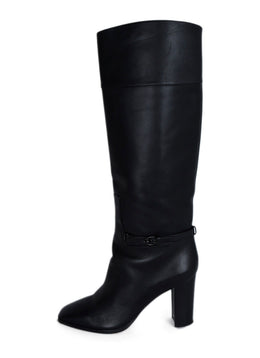 Christian Louboutin Black Leather Knee High Boots 2