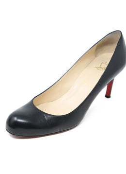 Christian Louboutin Black Leather Heels 1