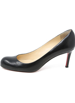Christian Louboutin Black Leather Heels 2