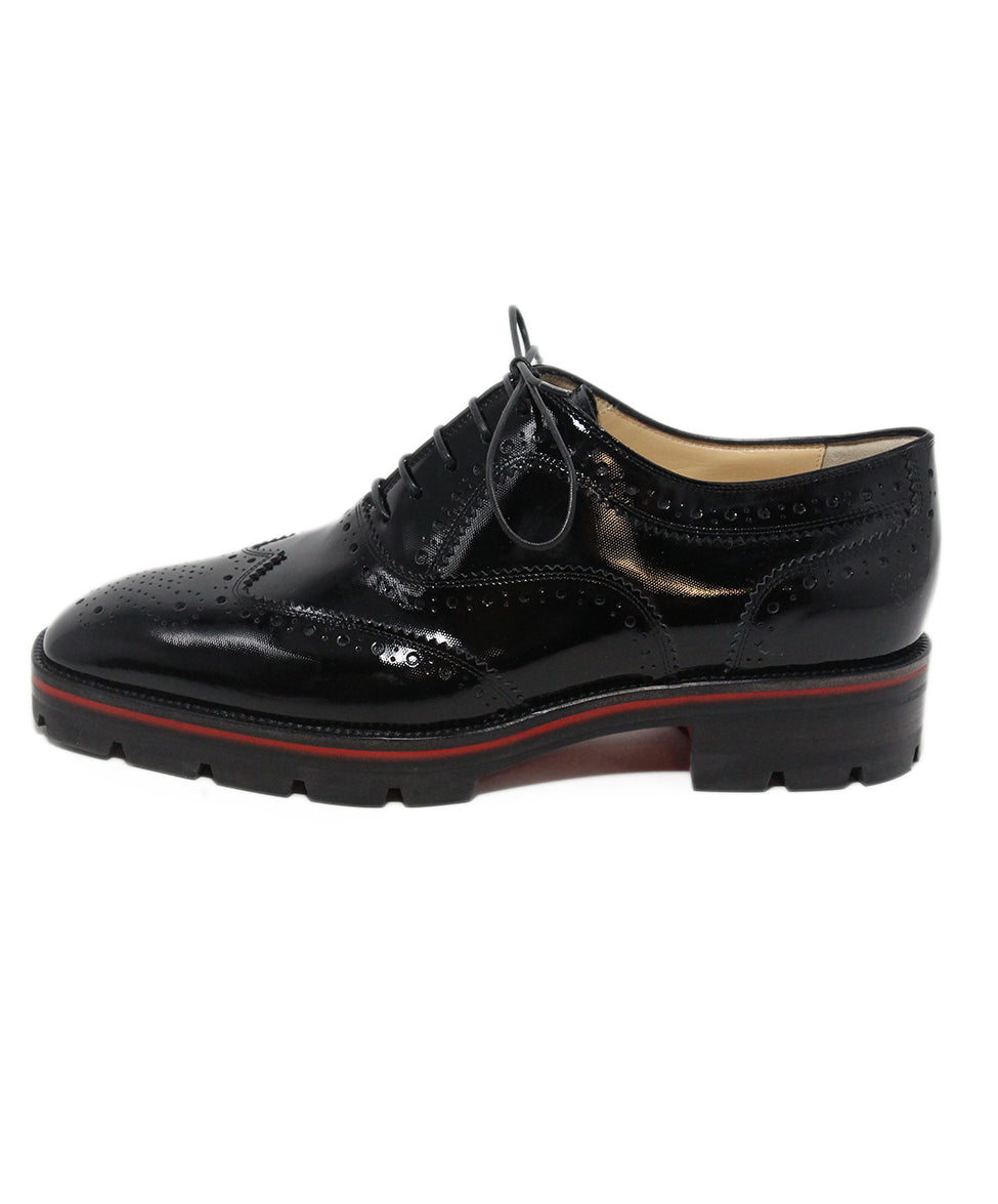 Christian Louboutin black patent leather oxfords 2