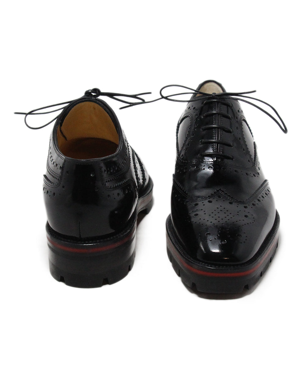 Christian Louboutin black patent leather oxfords 3