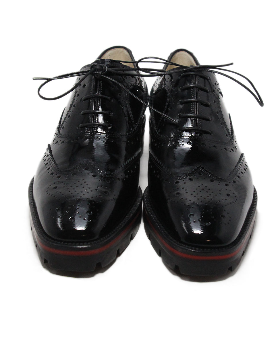 Christian Louboutin black patent leather oxfords 4