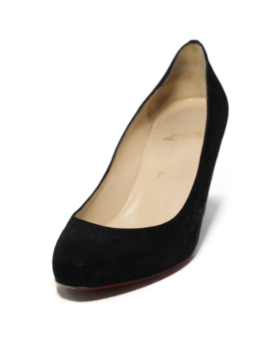 85a2ca59045 Christian Louboutin Black Suede Wedges Sz. 37