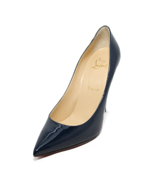 Christian Louboutin Blue Navy Patent Leather Heels 1