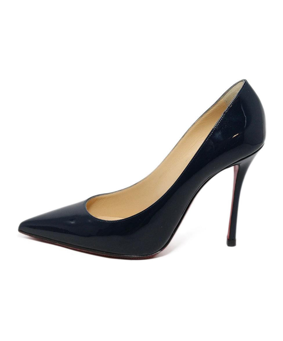 more photos be269 39ca4 Christian Louboutin Heels US 9.5 Blue Navy Patent Leather ...