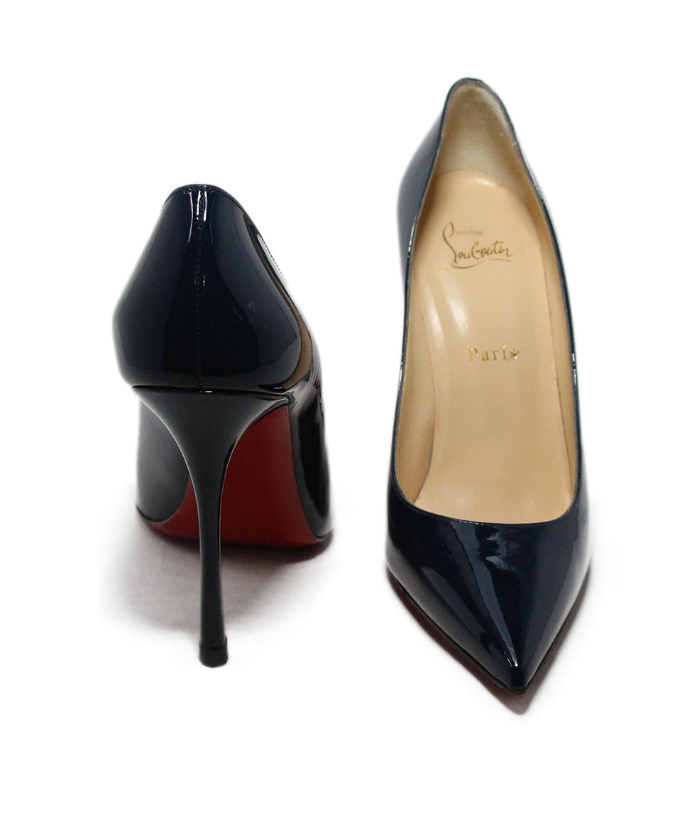 Christian Louboutin Blue Navy Patent Leather Heels 3