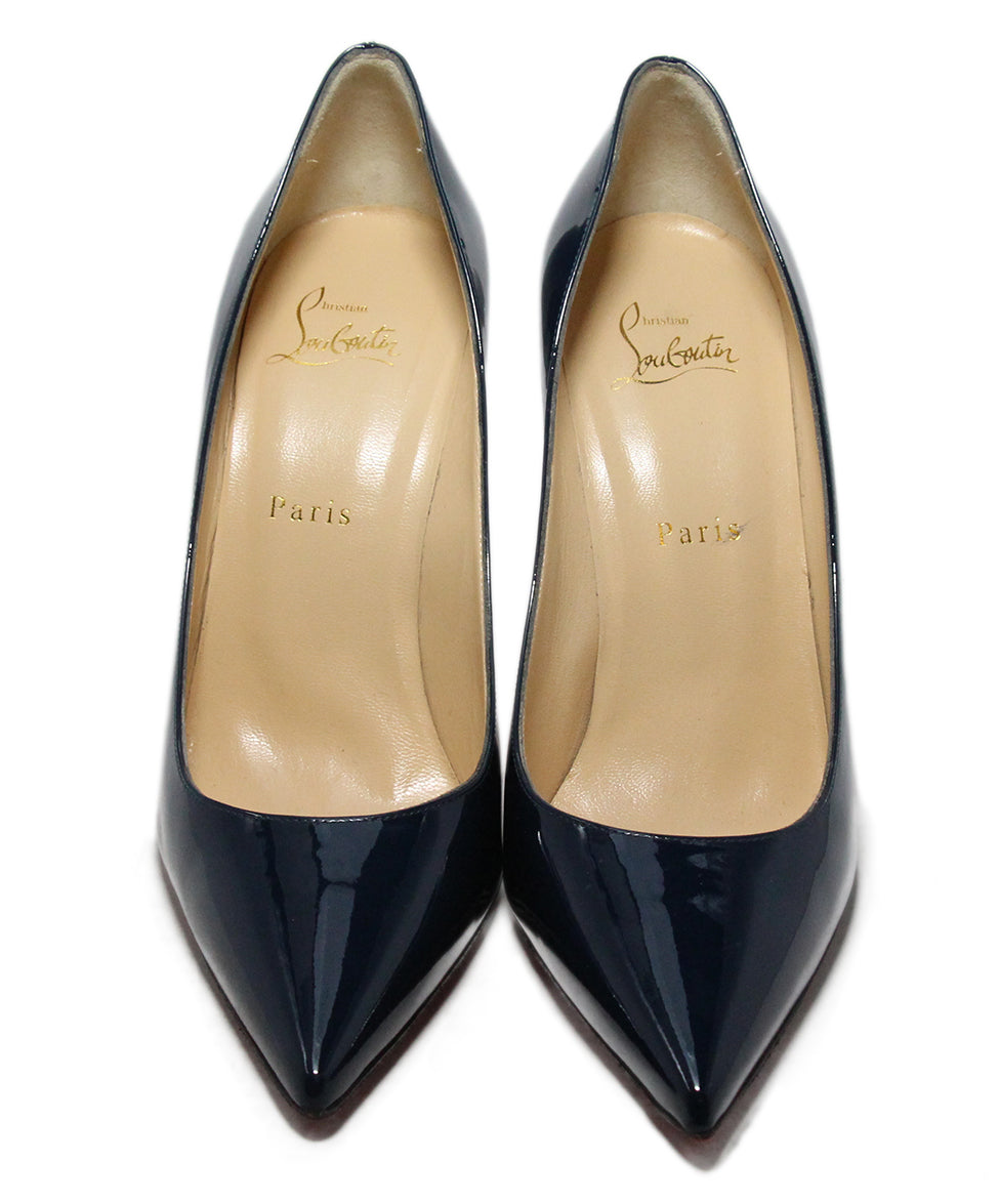 Christian Louboutin Blue Navy Patent Leather Heels 4