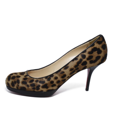 Christian Louboutin Brown Beige Pony Heels 1