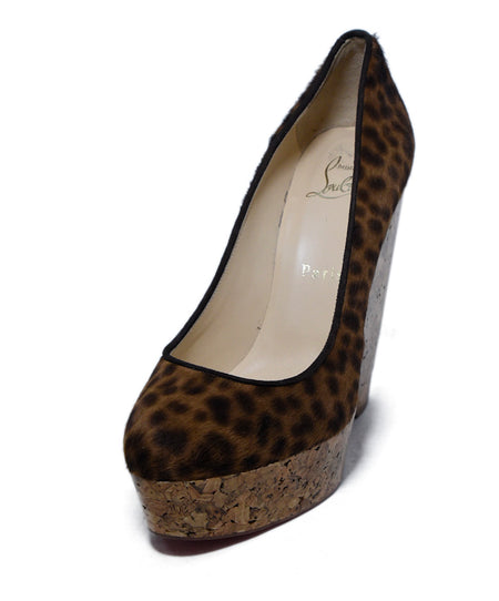 Fendi Neutral Gold Bronze Platform Heels Size 11