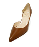 Christian Louboutin Brown Tobacco Leather Heels 1