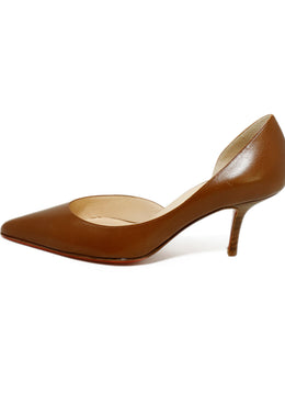 Christian Louboutin Brown Tobacco Leather Heels 2