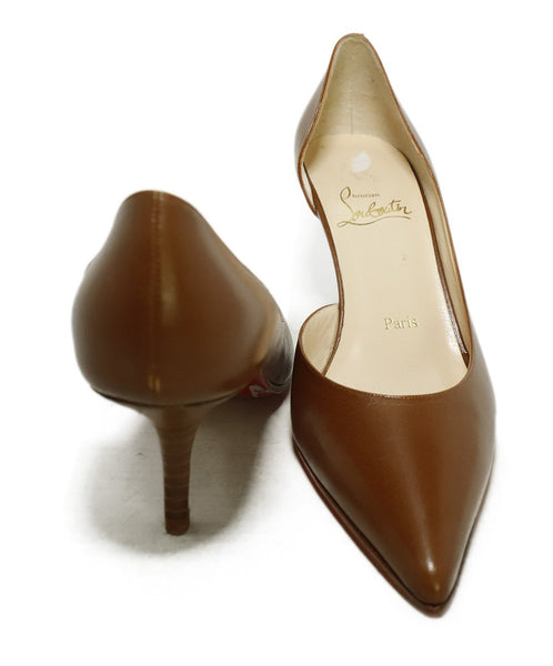 Christian Louboutin Brown Tobacco Leather Heels 3