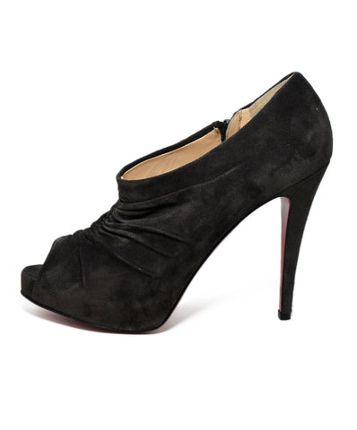Christian Louboutin Grey Charcoal Suede Heels 1