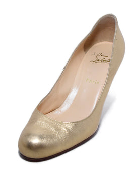 Christian Louboutin Rose Gold Leather Heels Sz. 40.5 | Christian Louboutin