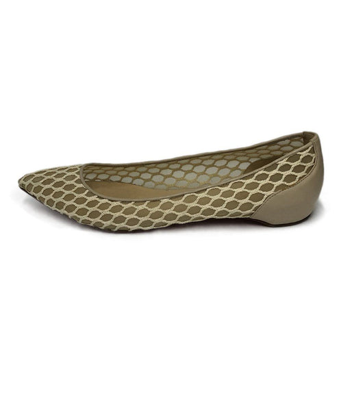 Christian Louboutin Neutral Beige Nylon Flats