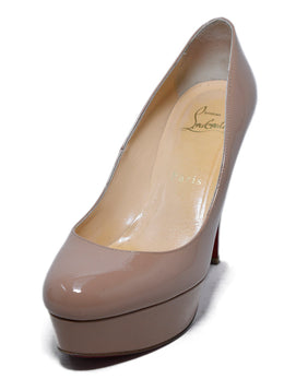 Christian Louboutin Neutral Nude Patent Leather Heels 1